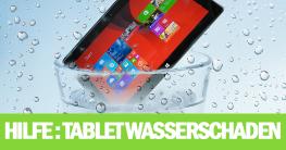 Tablet mit Wasserschaden - So können Sie es noch retten